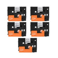 BROTHER TZ231 LAMINATED LABEL TAPE VALUE PACK (5 TAPES)