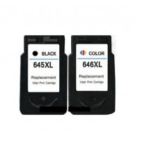 REMANUFACTURED CANON PG-645 CL-646 VALUE PACK PRINTER INK CARTRIDGE