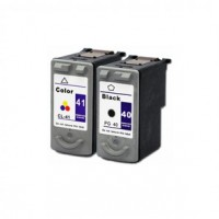 REMANUFACTURED CANON PG-40 CL-41 VALUE PACK PRINTER INK CARTRIDGE