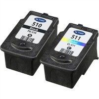 REMANUFACTURED CANON PG-510 CLI-511 VALUE PACK PRINTER INK CARTRIDGE