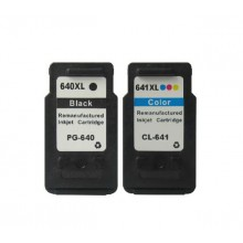 REMANUFACTURED CANON PG-640 CL-641 VALUE PACK PRINTER INK CARTRIDGE