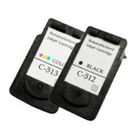 REMANUFACTURED CANON PG-512 CL-513 VALUE PACK PRINTER INK CARTRIDGE