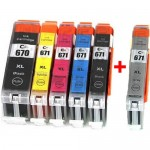 CANON PGI-670 CLI-671 6C With Grey VALUEPACK COMPATIBLE PRINTER INK CARTRIDGE