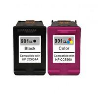 REMANUFACTURED HP 901 VALUE PACK PRINTER INK CARTRIDGE