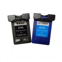REMANUFACTURED HP 21 22 VALUE PACK PRINTER INK CARTRIDGE