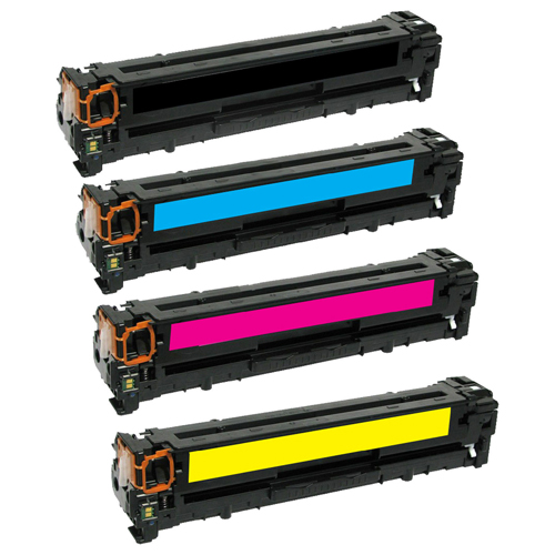 HP CB540A-CB543A 125A VALUE PACK COMPATIBLE PRINTER TONER CARTRIDGE